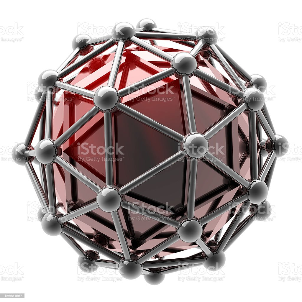 silver molecules structure isolated royalty-free stock photo