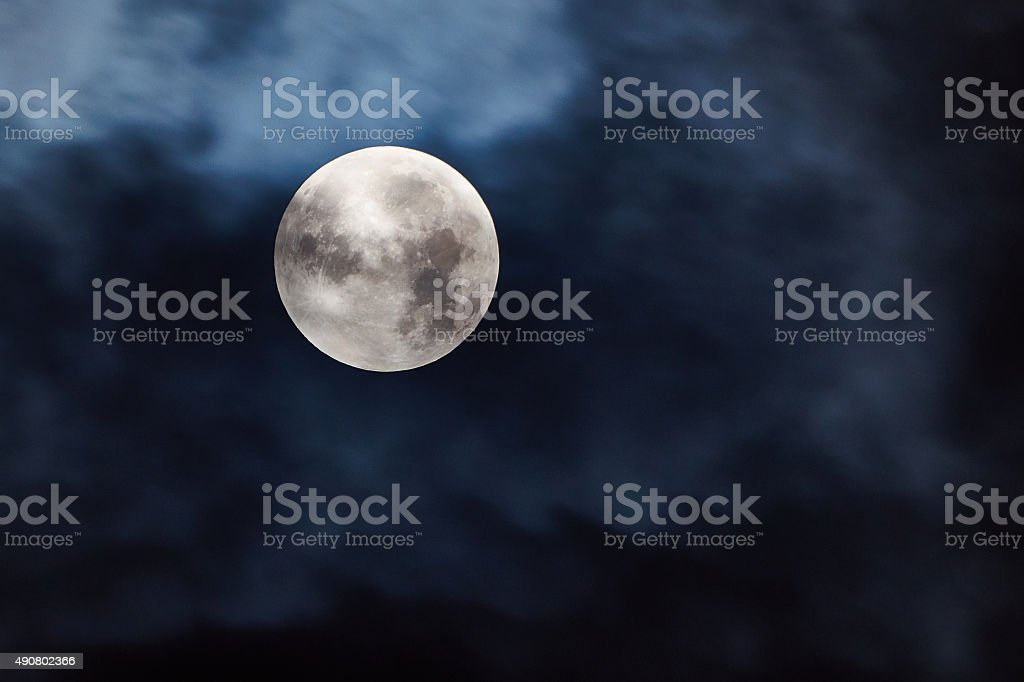 Silver Moon at the Night stock photo