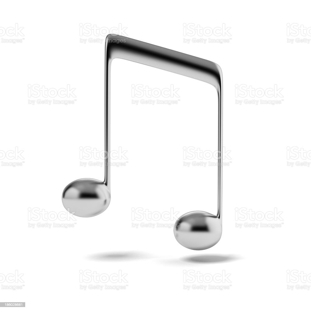 Silver music note stock photo