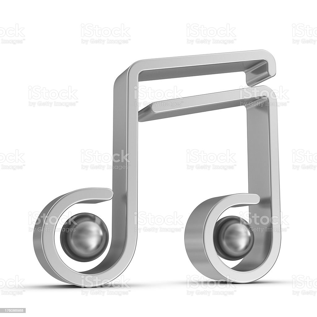 silver musical note icon royalty-free stock photo