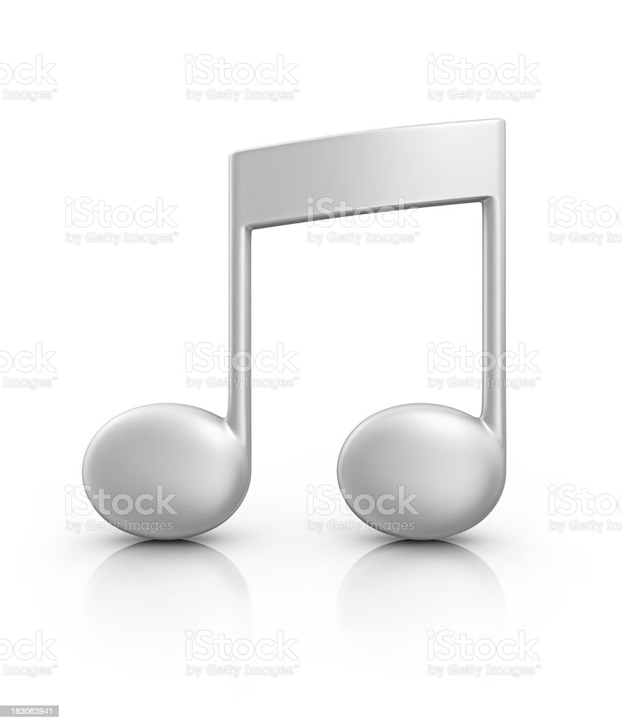silver musical note stock photo
