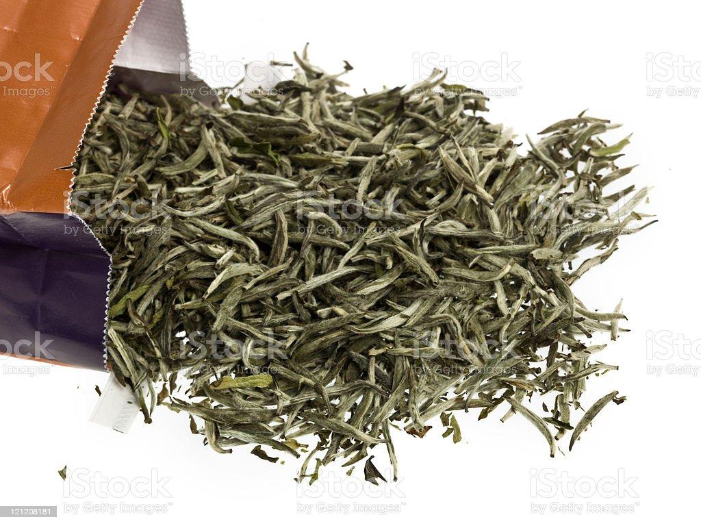 Silver Needle White Tea Leaves royalty-free stock photo
