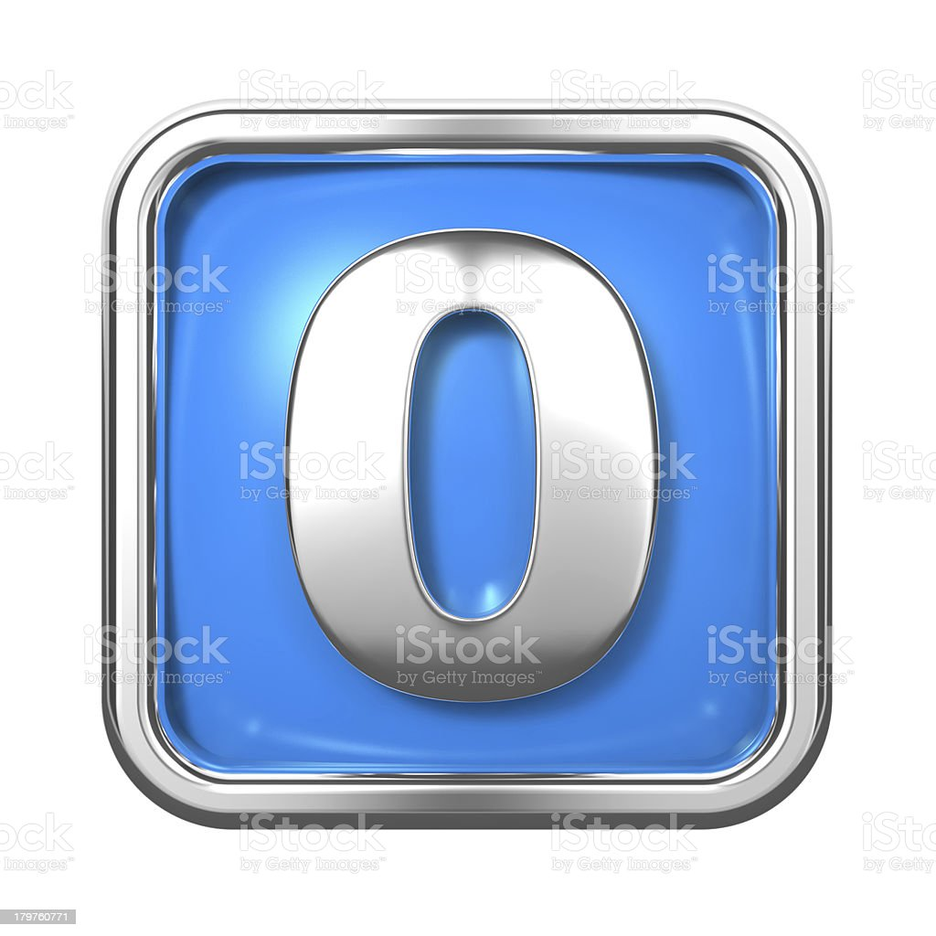 Silver Numbers in Frame, on Blue Background. stock photo