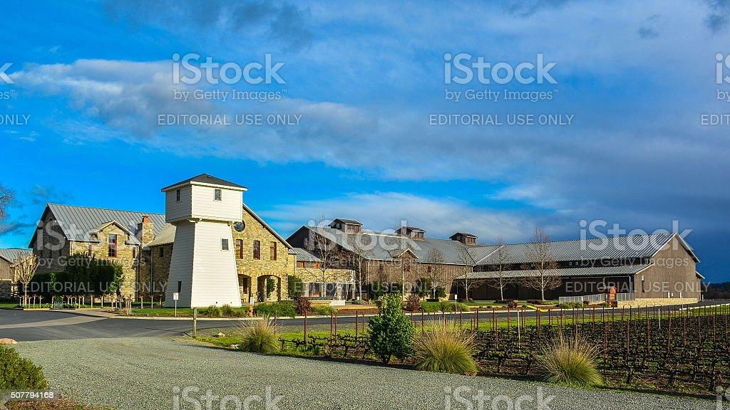 Silver Oak Cellars, Oakville, CA stock photo