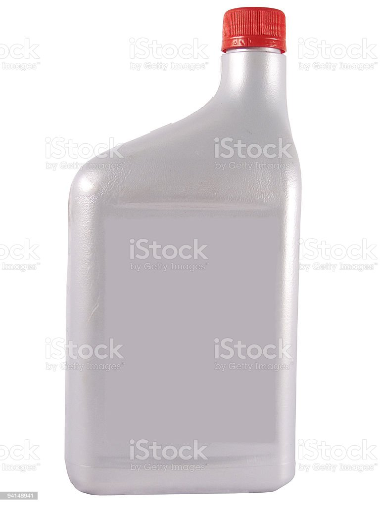 Silver Oil Bottle royalty-free stock photo