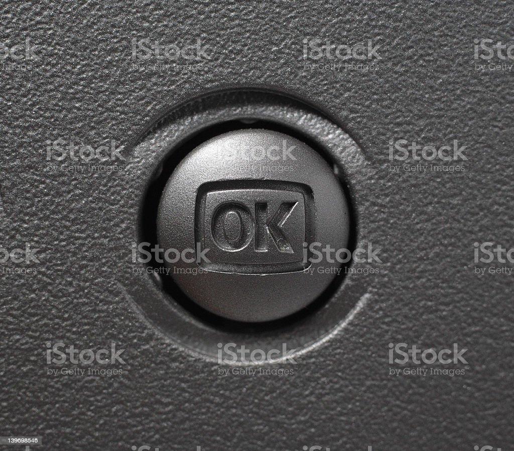 Silver OK button royalty-free stock photo