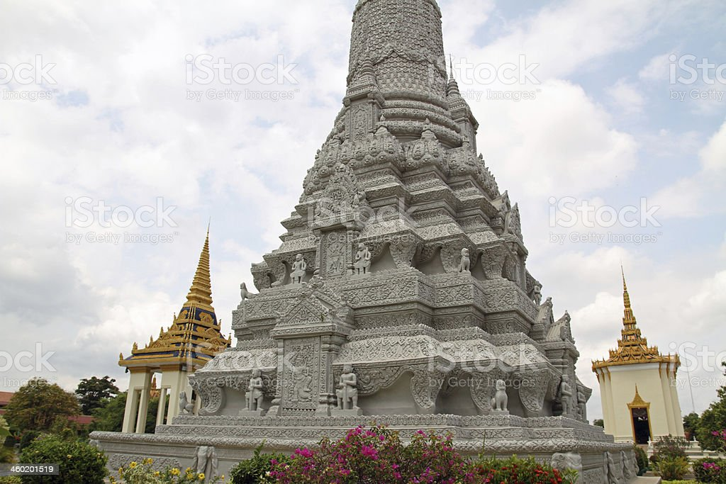 Silver Pagoda in Phnom Penh, Cambodia stock photo