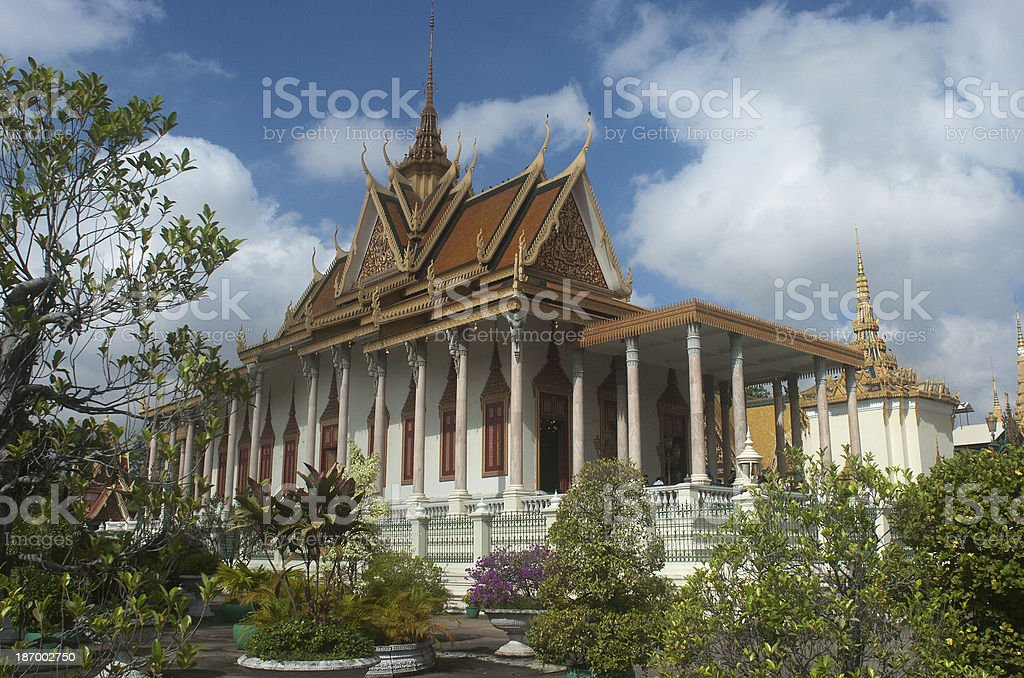 Silver Pagoda. Phnom Penh. Cambodia stock photo