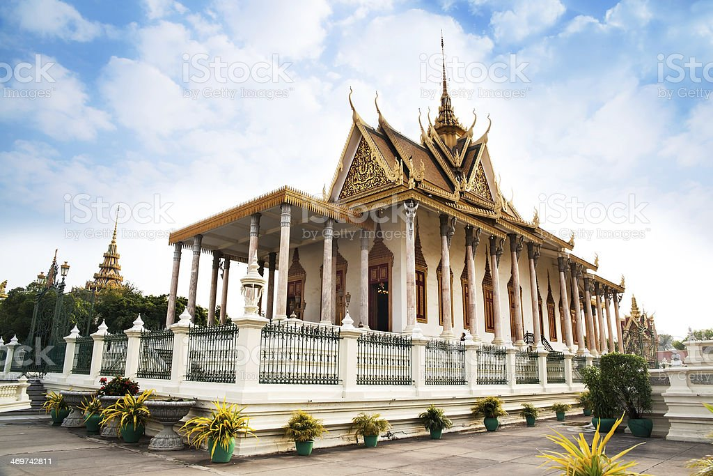Silver Pagoda, Phnom Penh, No.1 Attractions in Cambodia. stock photo