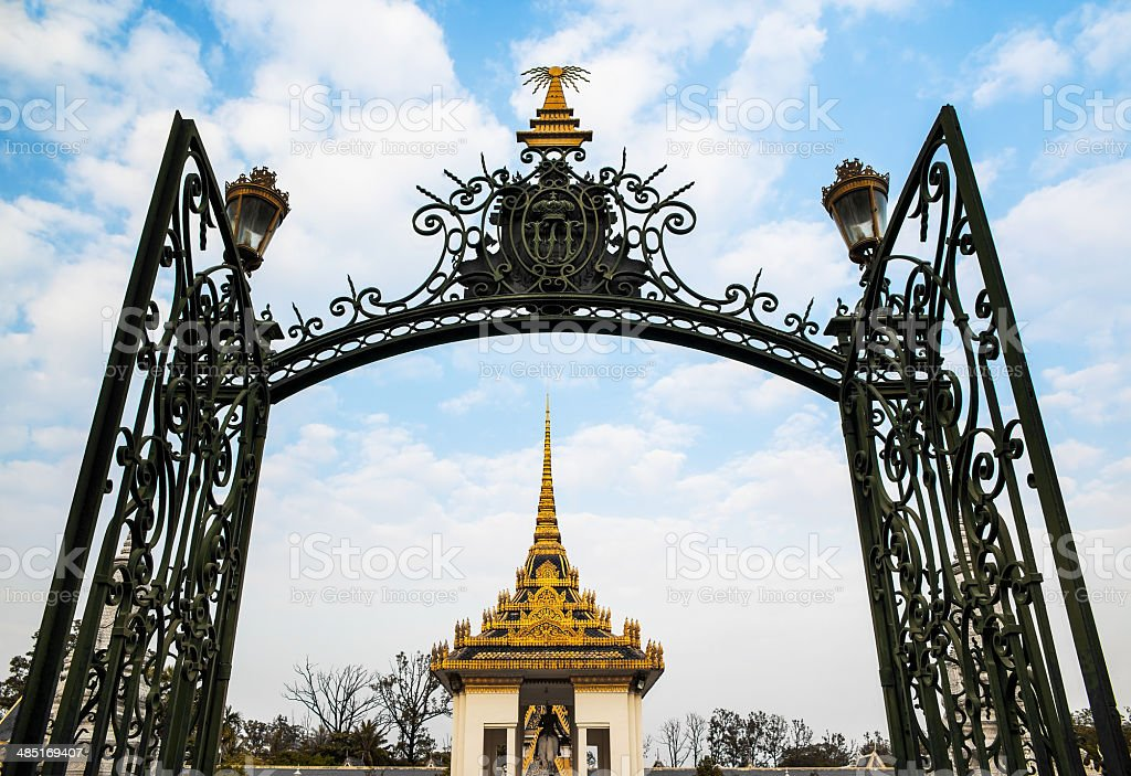 Silver Pagoda, Royal Palace, Phnom Penh, No.1 Attractions in Cam stock photo