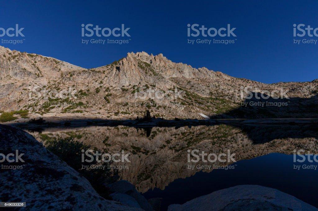 Silver Pass Lake stock photo