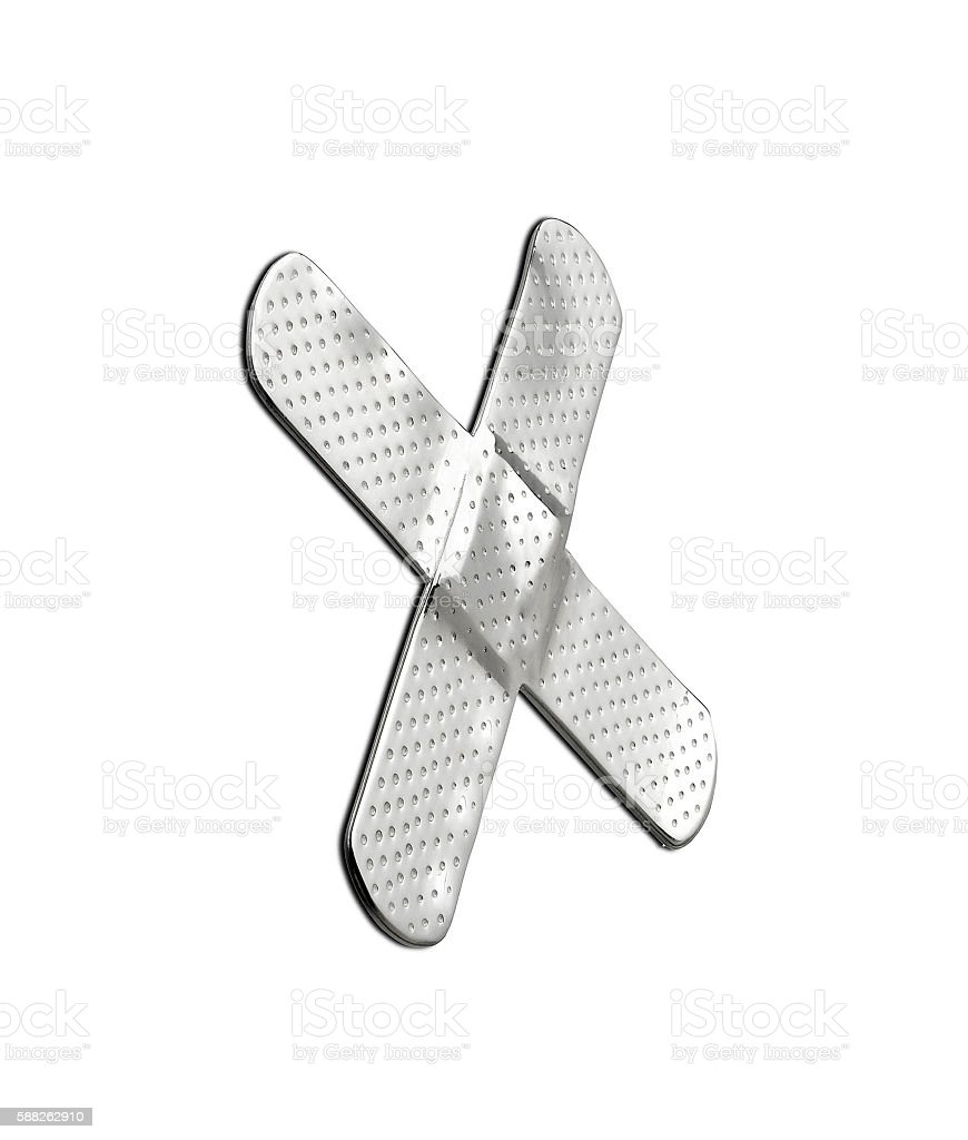silver patch like cross stock photo