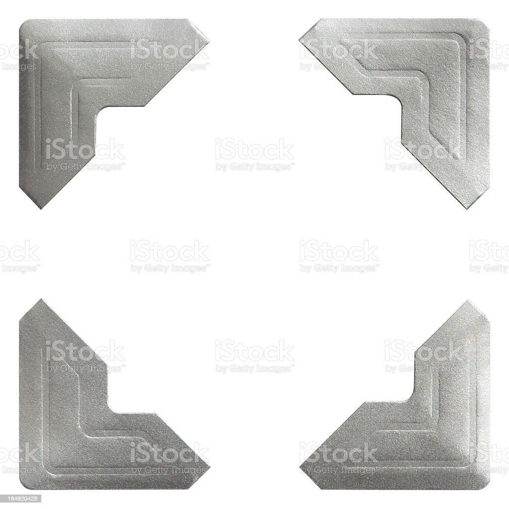 Silver Photo Corner stock photo