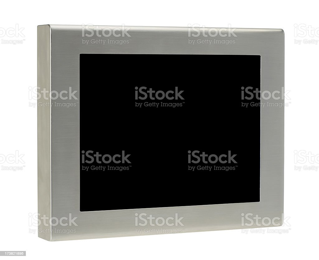 Silver photo frame with clipping paths stock photo