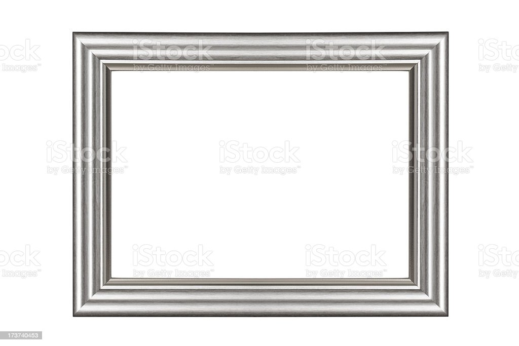 Silver picture frame royalty-free stock photo