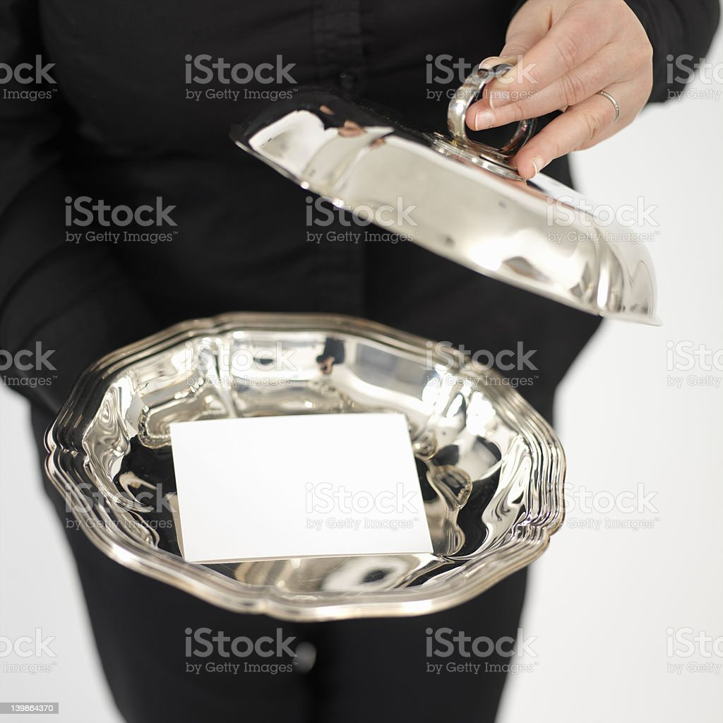 silver plate royalty-free stock vector art