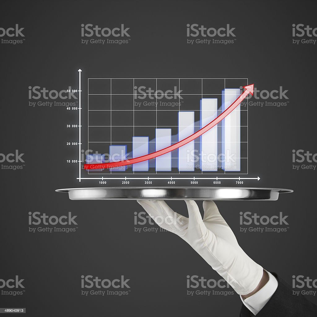 silver plate with chart royalty-free stock photo