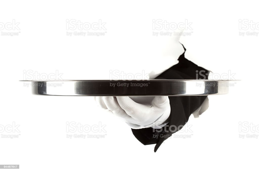silver platter royalty-free stock photo