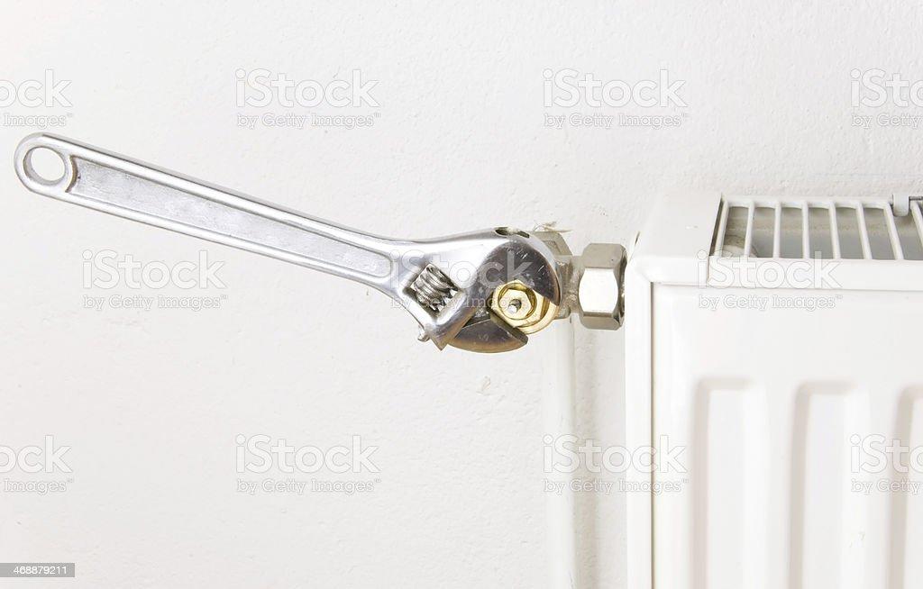 silver pliers radiator stock photo