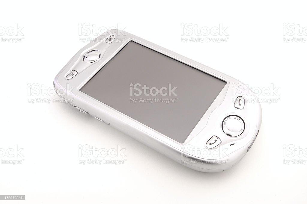 Silver Pocket PC (Phone Edition) royalty-free stock photo