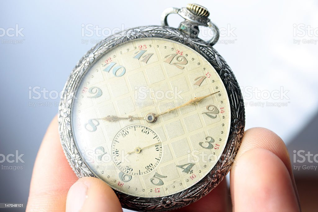 silver pocket watch royalty-free stock photo