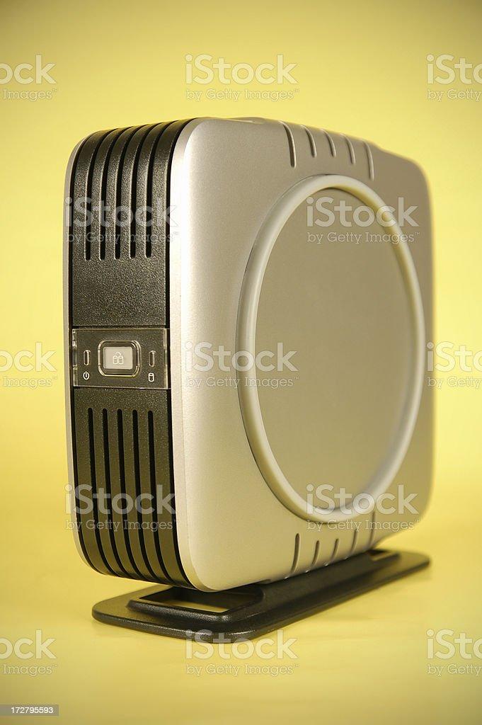 Silver Portable Hard Drive stock photo