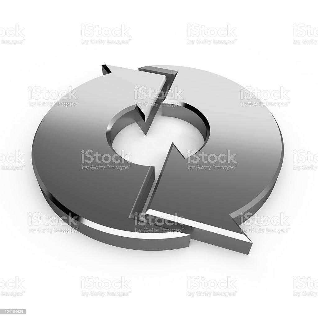Silver Process Arrows stock photo