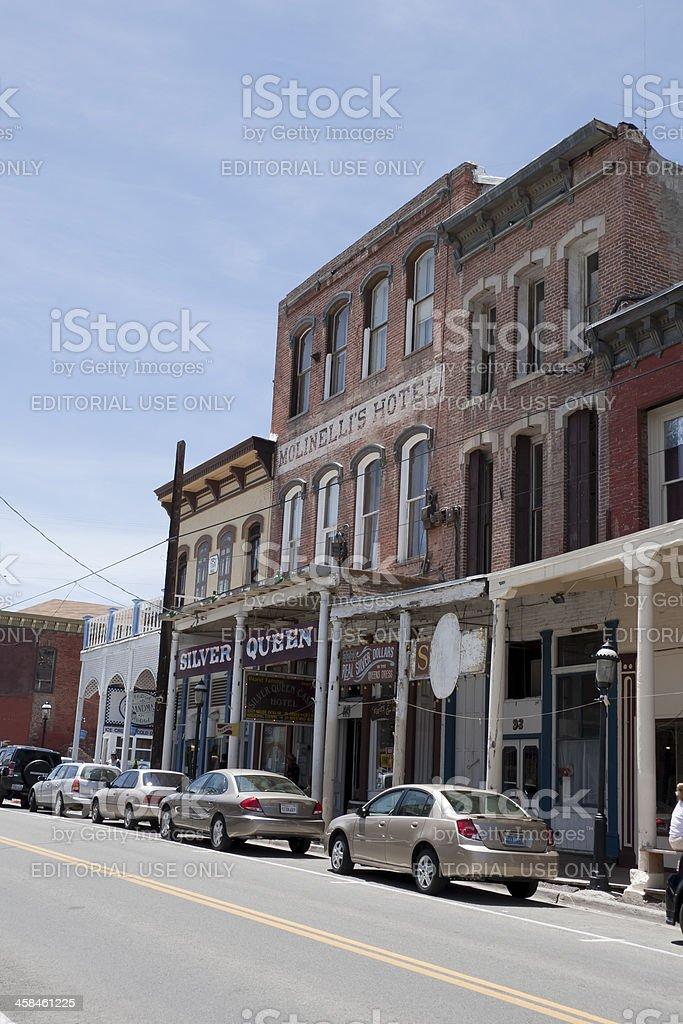Silver Queen Hotel in Virginia City, NV stock photo