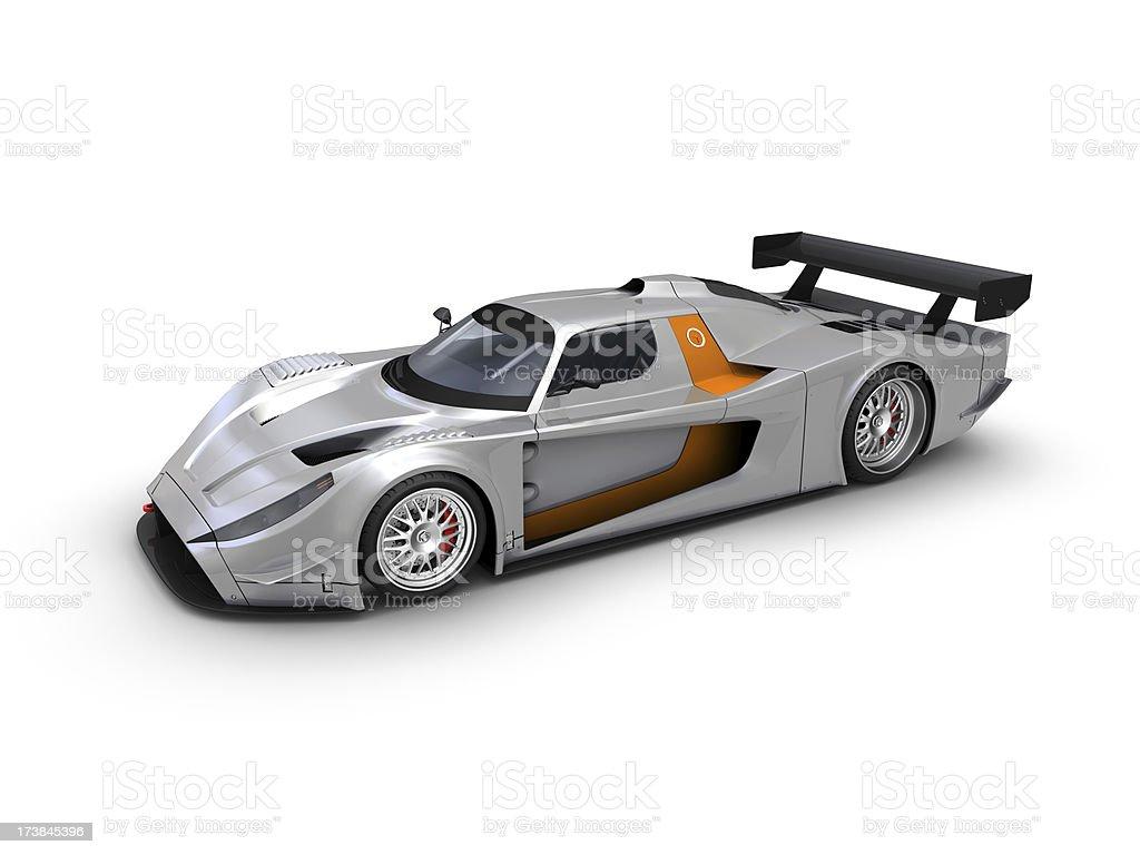 Silver Race car royalty-free stock photo