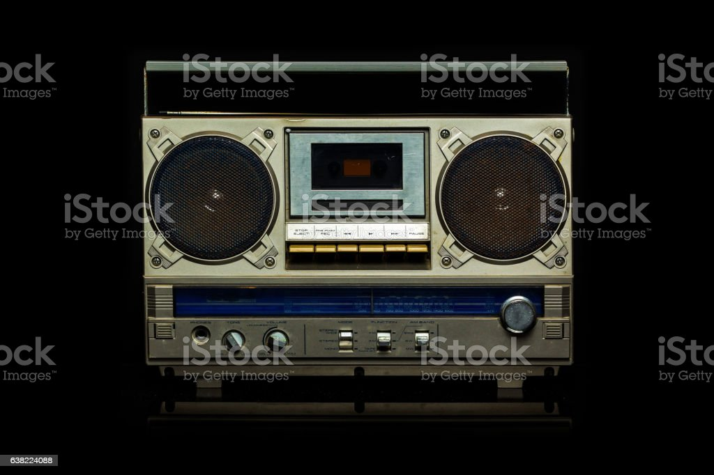 Silver Radio Cassette stock photo