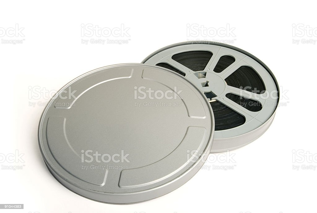 Silver Reel stock photo