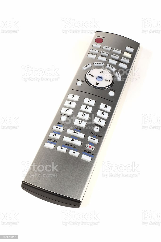 Silver Remote Control royalty-free stock photo