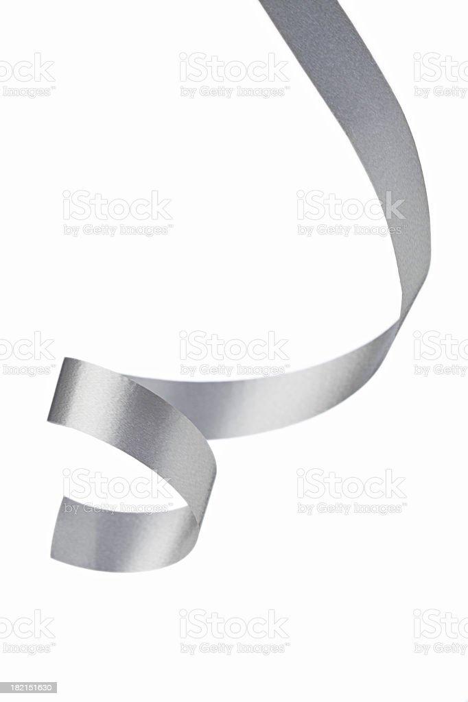 Silver ribbon stock photo