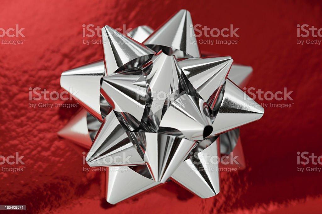 Silver ribbon royalty-free stock photo