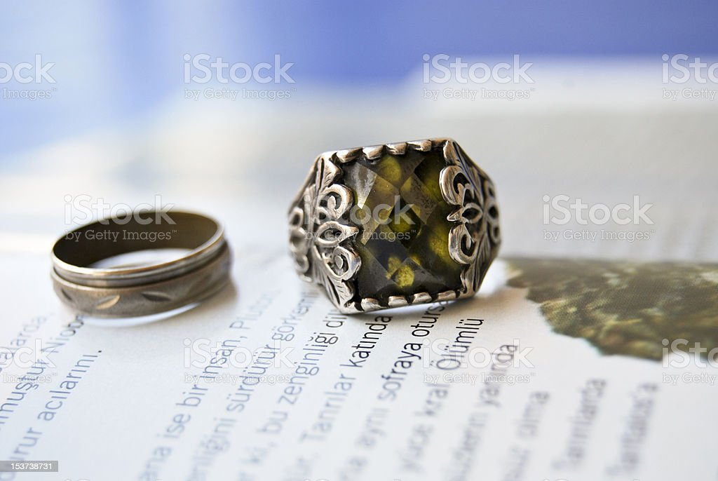 silver rings stock photo