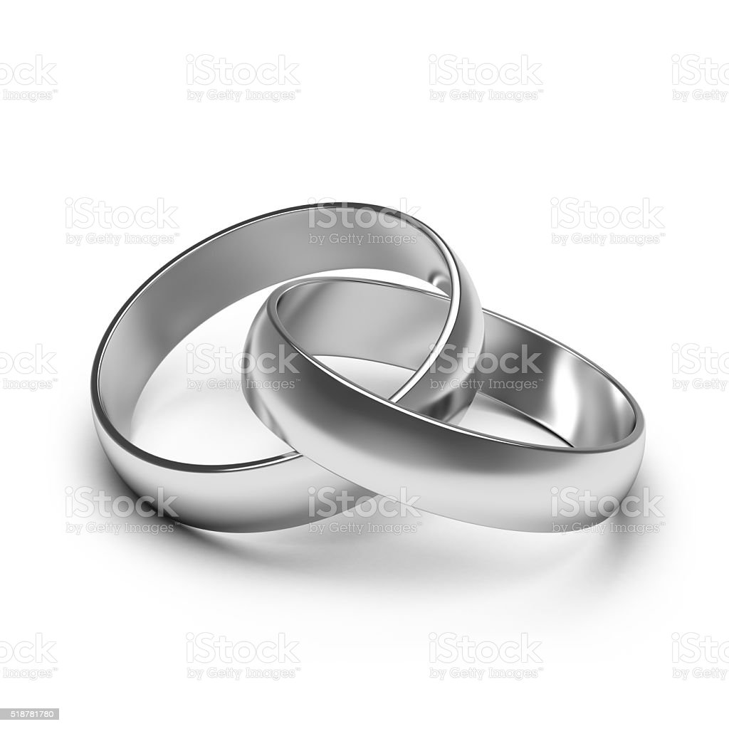 silver rings. stock photo