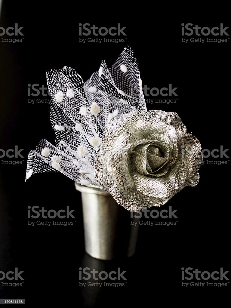 silver rose royalty-free stock photo