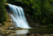 Silver Run falls waterfall near Cashiers NC