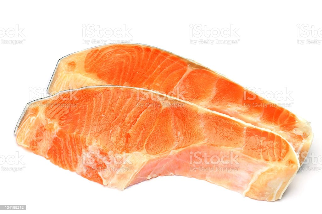 silver salmon royalty-free stock photo