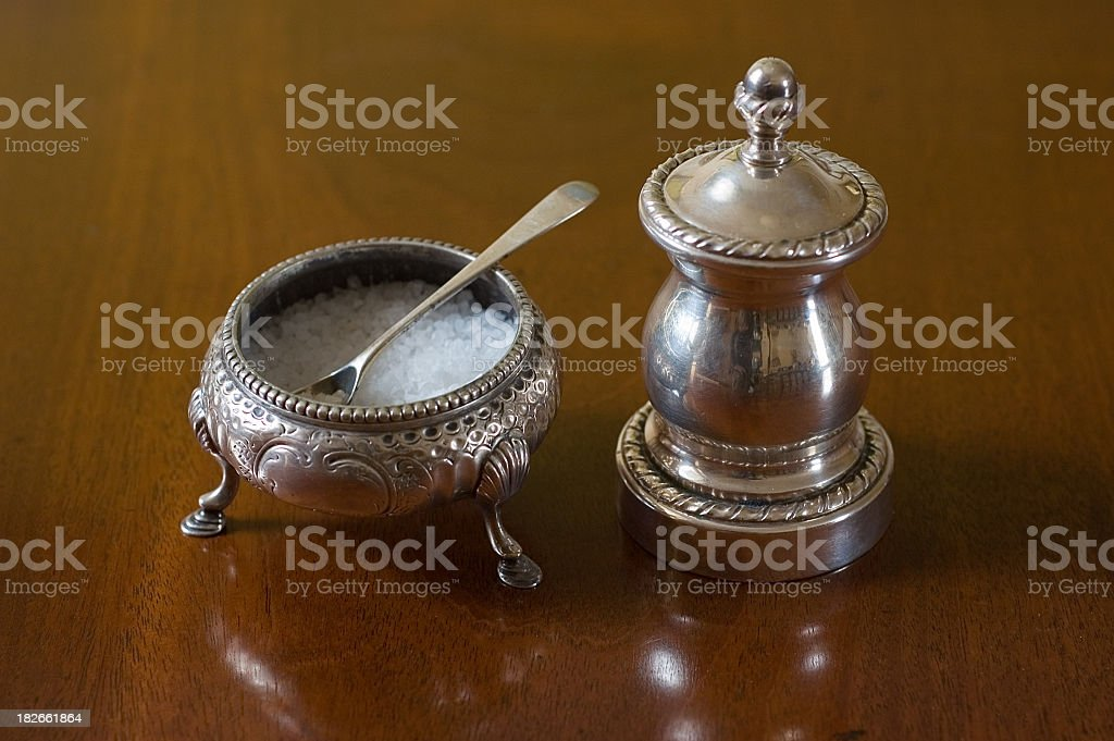 Silver Salt and Pepper royalty-free stock photo