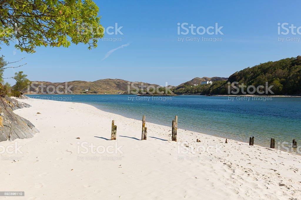 Silver Sands beach Morar coast Scotland from Arisaig to Morar stock photo