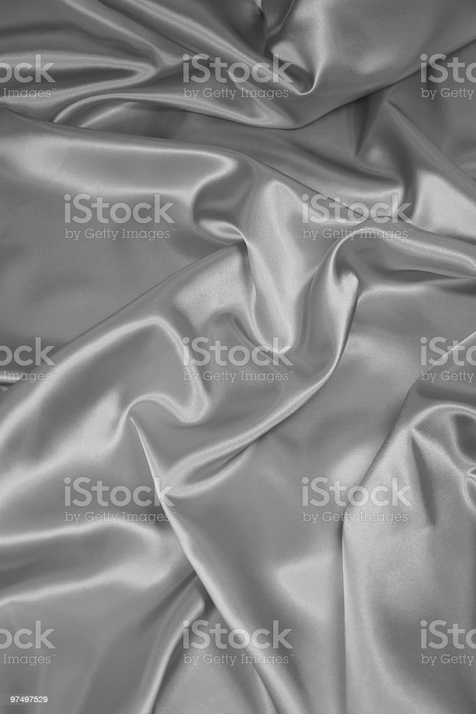 Silver Satin/Silk Fabric 2 royalty-free stock photo