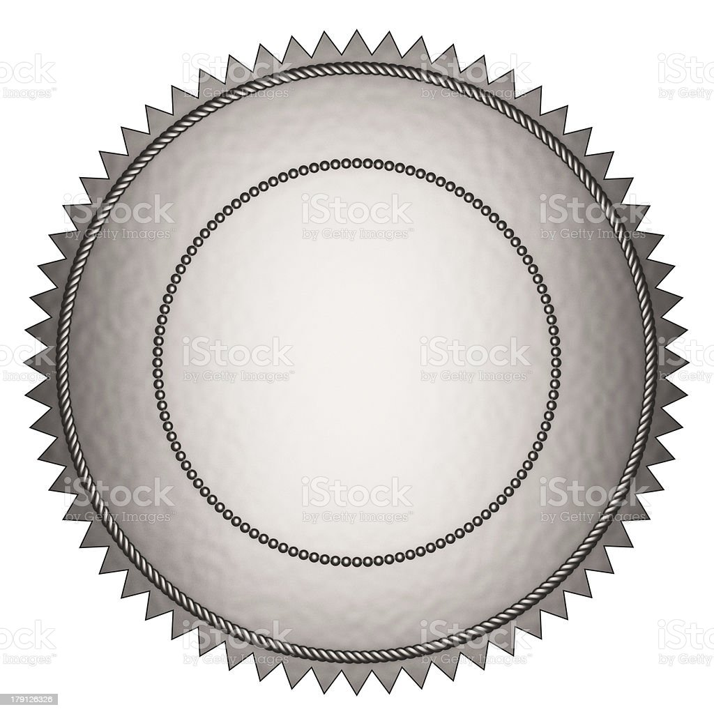 Silver Seal royalty-free stock photo