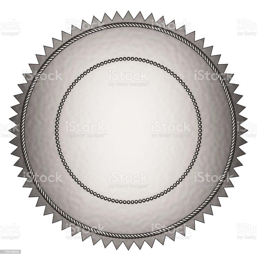 Silver Seal stock photo