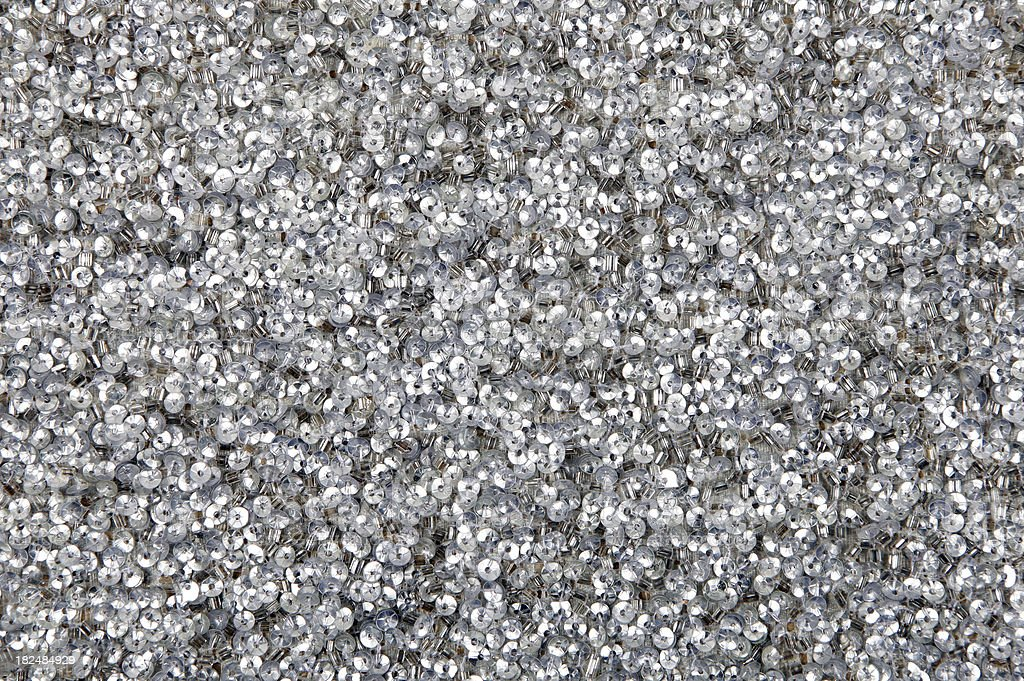 Silver Sequin Background Texture Pattern stock photo