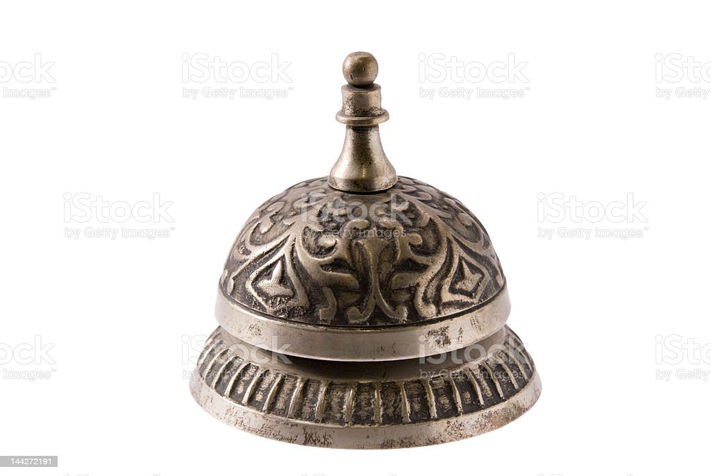 Silver Service Bell royalty-free stock photo