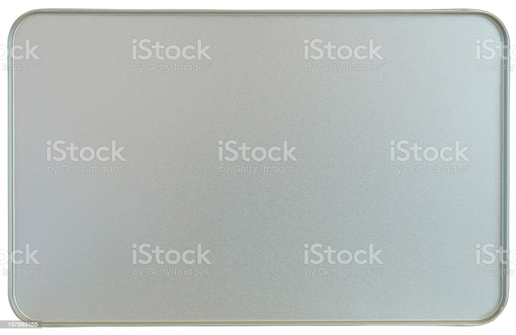 Silver sheet metal frame texture flanged edges background stock photo