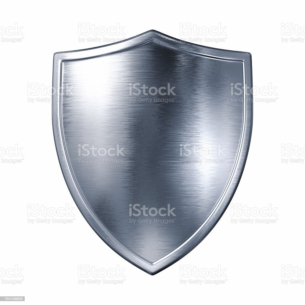 Silver shield royalty-free stock photo
