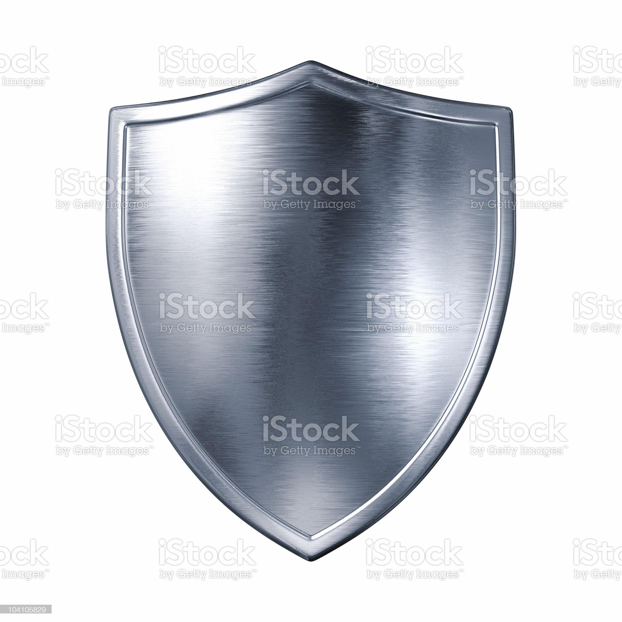 Silver shield royalty-free stock photo