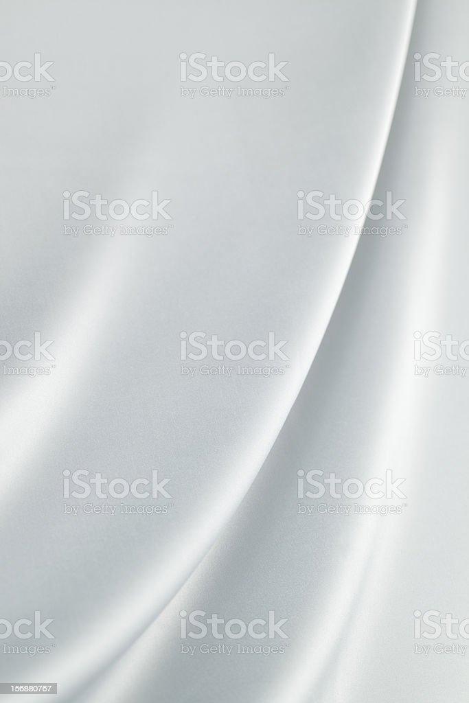Silver  silk royalty-free stock photo